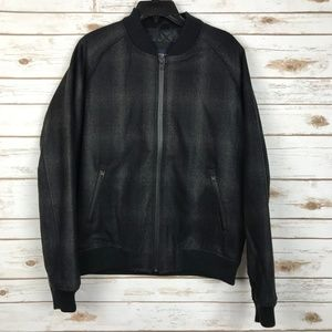 American Eagle Outfitters Black Bomber Jacket